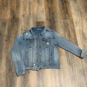 Cute denim jacket with holes